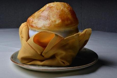 Maine lobster bisque and puff pastry.